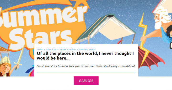 Summer Stars short story competition